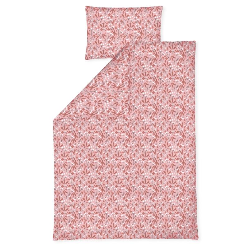 Bettwäsche 'Flora' altrosa/rost ca. 100x135cm