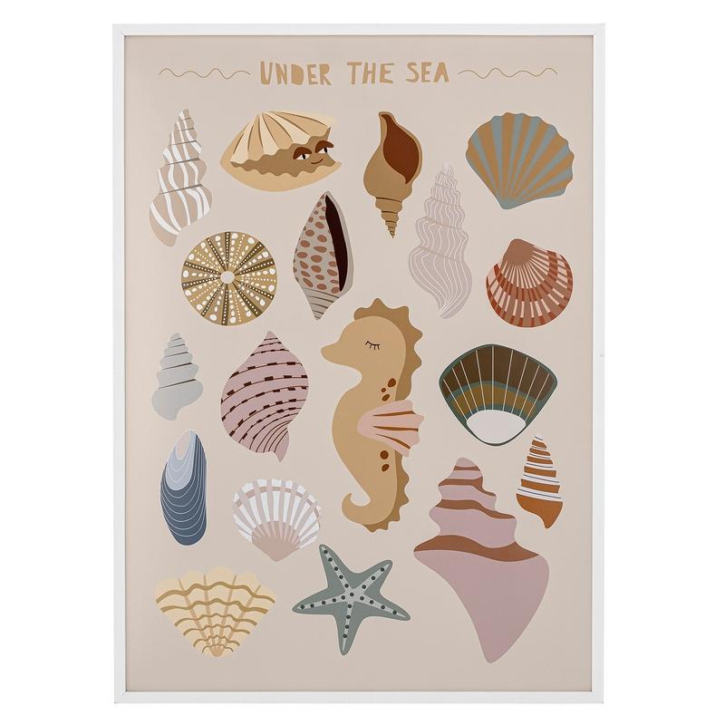 Bild 'Leben im Meer' beige 52x72cm