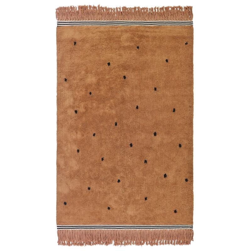 Teppich 'Semmie' Punkte cognac 120x170cm