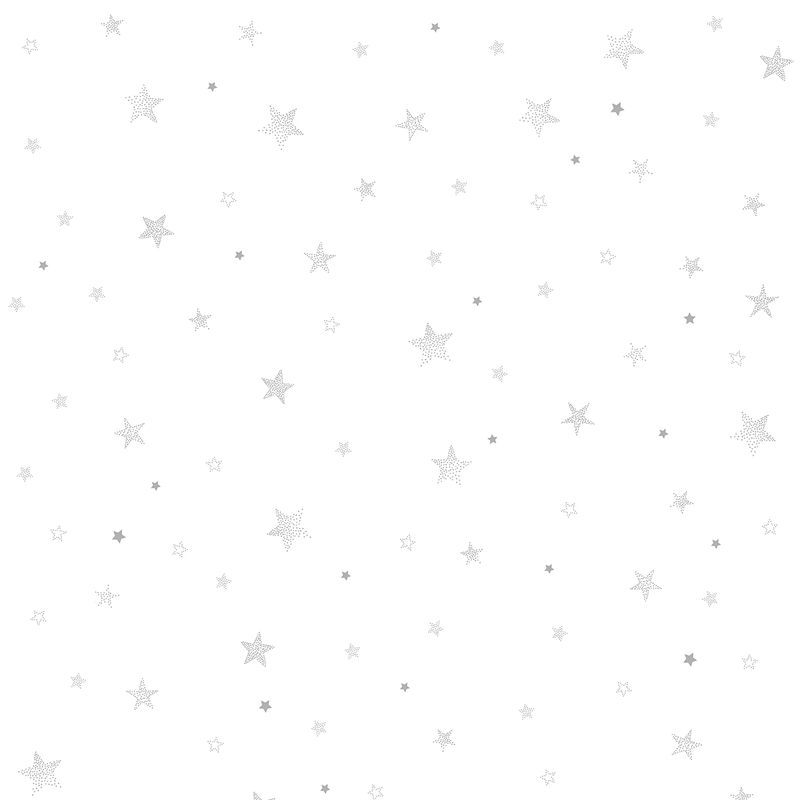 Vliestapete 'Stardust' Sterne weiß/grau