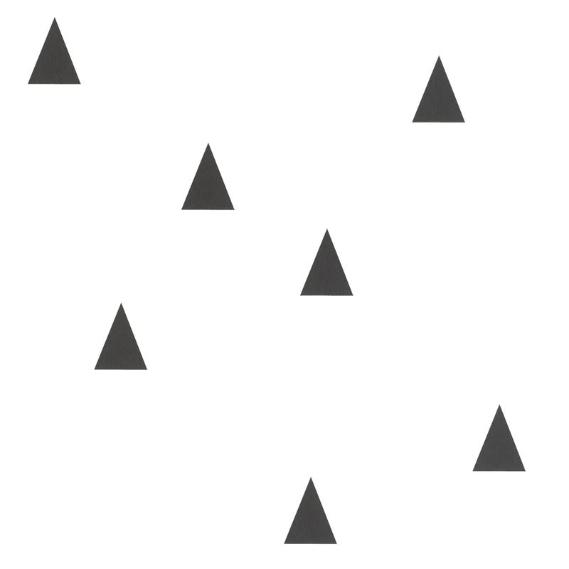 Vliestapete 'Kleine Dreiecke' weiß/schwarz