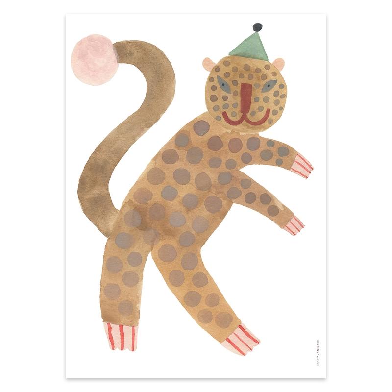 Poster 'Leopard Elvis' camel 50x70cm