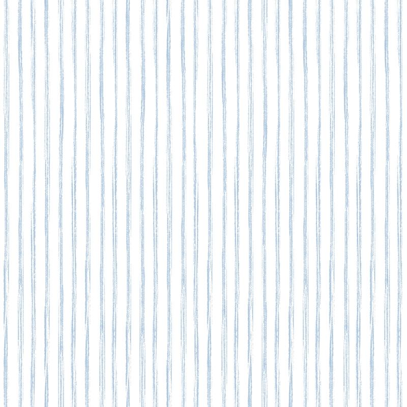 Vliestapete 'Streifen' hellblau/weiß