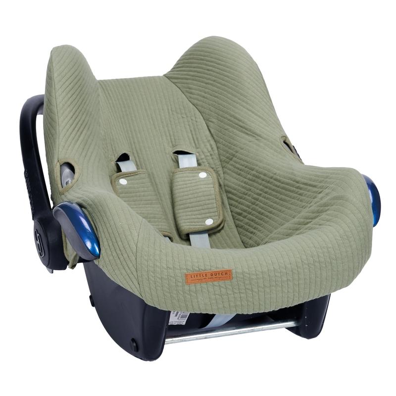 Sitzbezug 'Pure' oliv für Babyschale