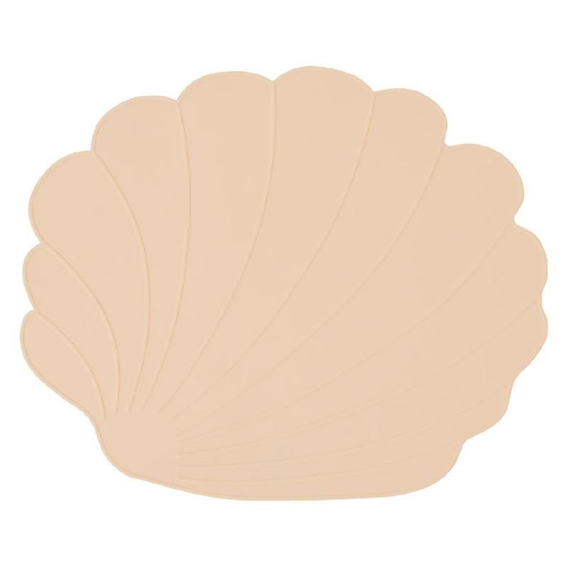 Tischset 'Muschel' Silikon vanille