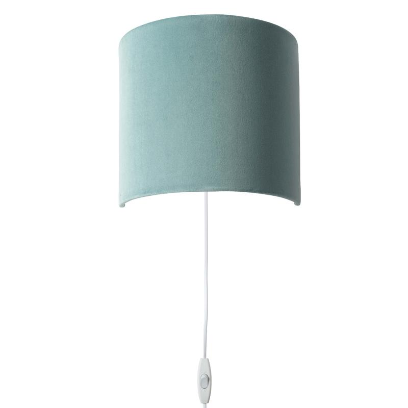 Wandlampe 'Sweet' Samt softpetrol 23cm