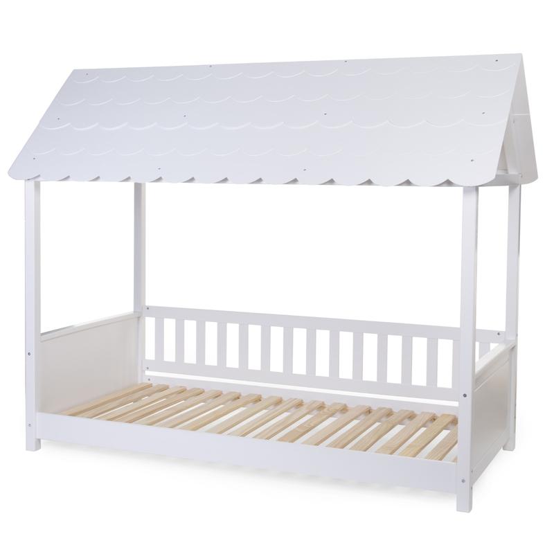 Hausbett mit Dach weiß 90x200cm H 175cm
