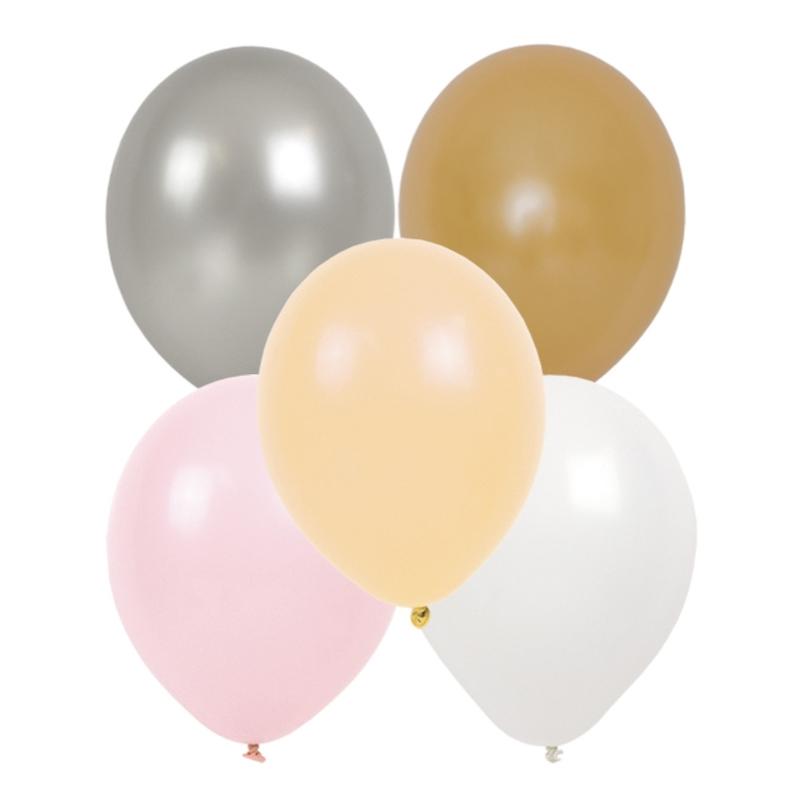 Luftballons rosa/gold 20cm 10-tlg.