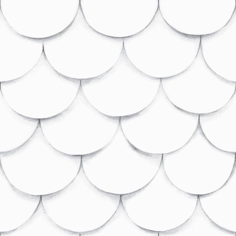 Vliestapete '3D Dachziegel' weiß/grau