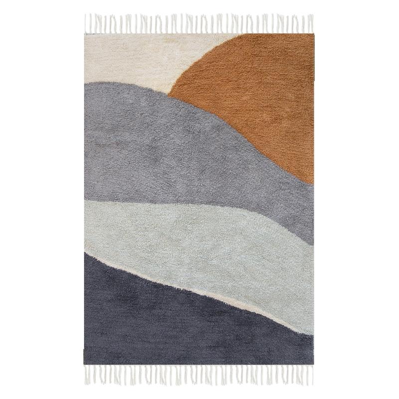 Teppich 'Horizon' blau 90x130cm waschbar