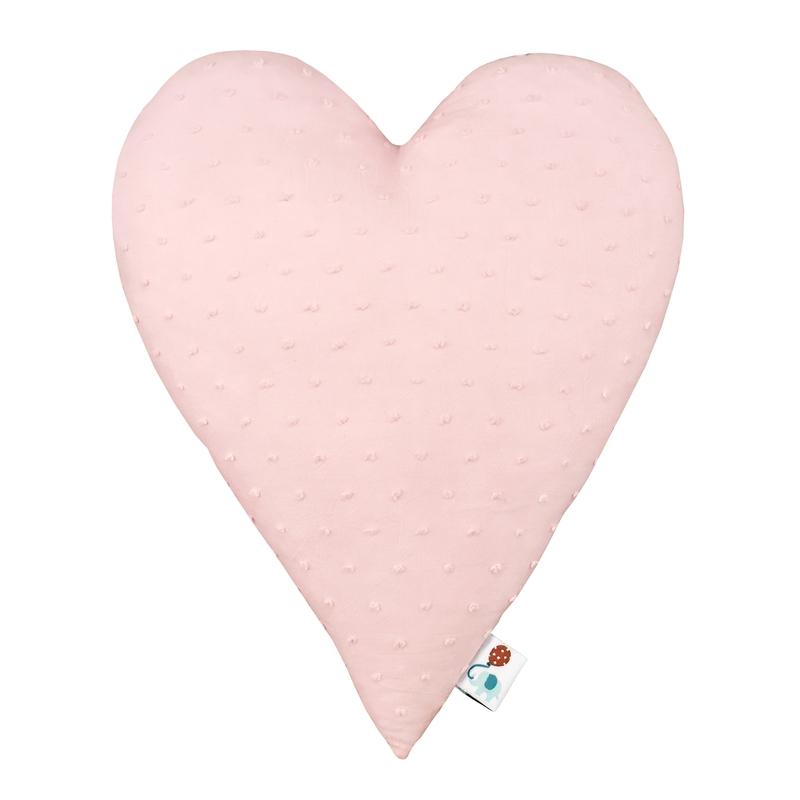Kissen 'Herz' 3D-Punkte puderrosa 30cm