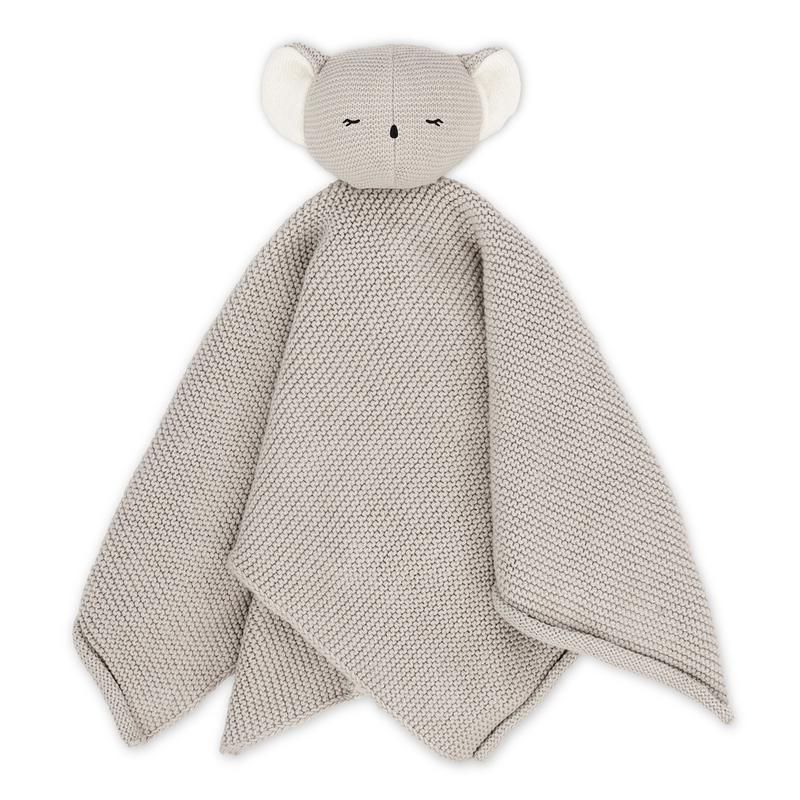Bio Schnuffeltuch 'Koala Kiki' grau