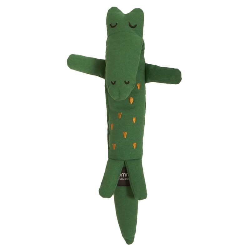 Spielpuppe 'Krokodil' bestickt grün 31cm