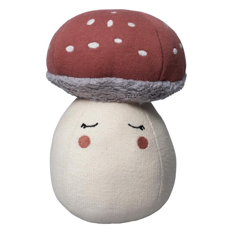 Steh-auf-Pilz Bio-Baumwolle rostrot