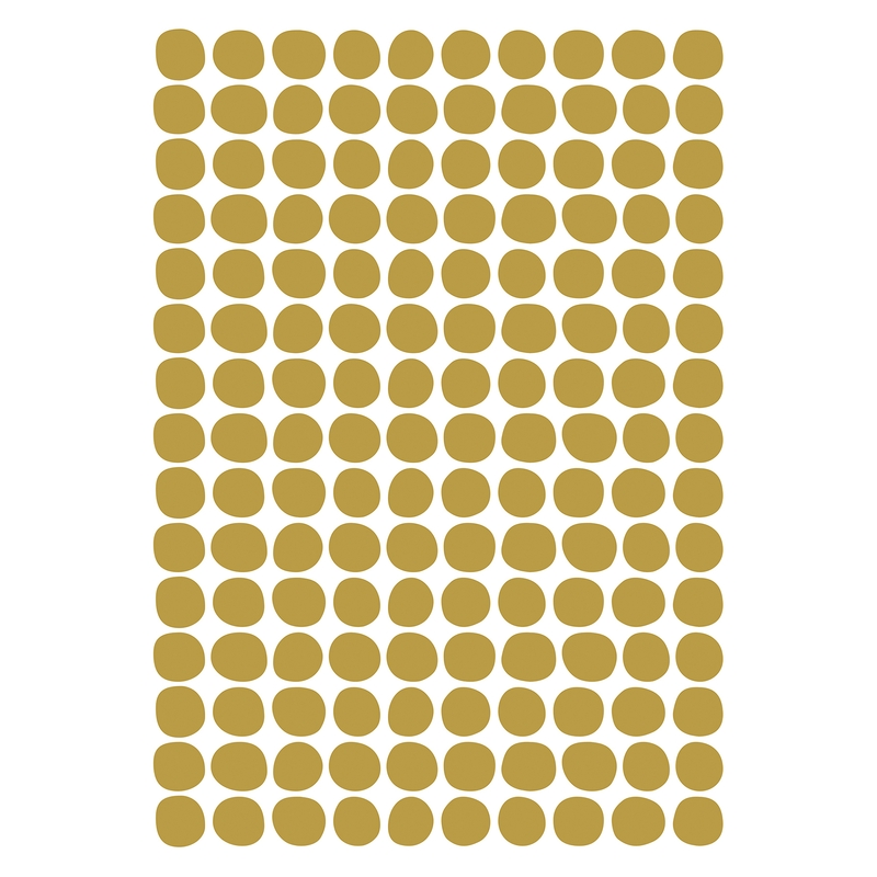 Wandsticker 'Basic Punkte' senfgelb 150-tlg.