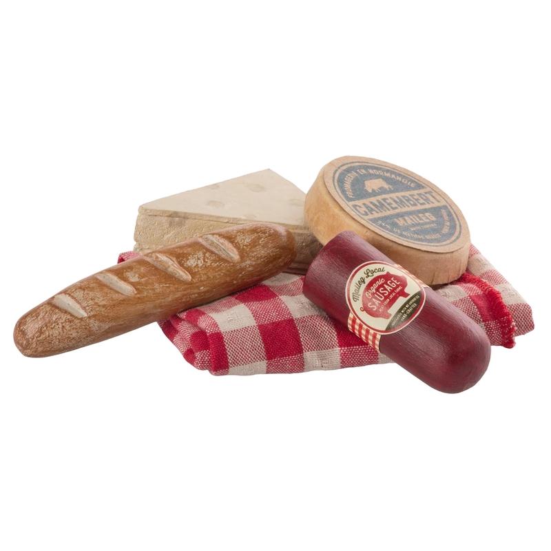 Picknick Set für Puppenhaus rot/braun 7cm (Mini)