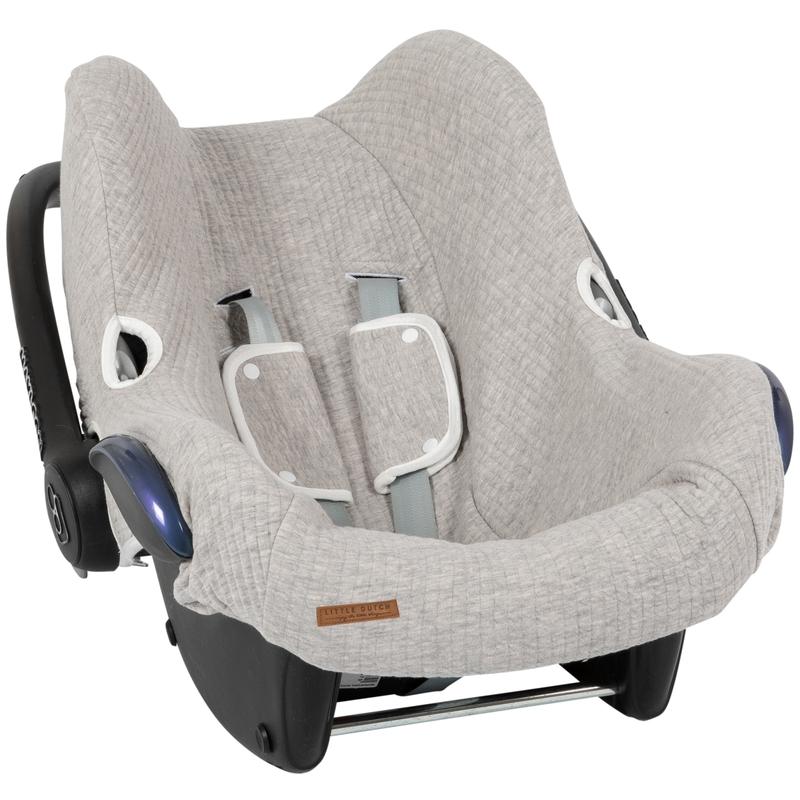 Sitzbezug 'Pure' hellgrau für Babyschale