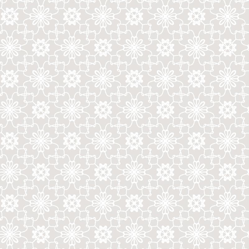 Tapete 'Blumen Mosaik' hellgrau