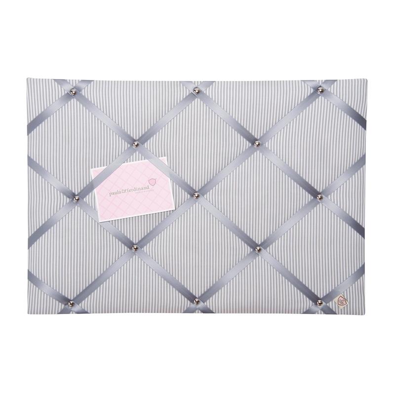 Memoboard Streifen grau 45x65cm