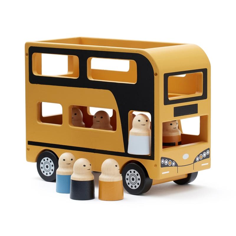 Doppeldecker-Bus Holz ocker ab 2 Jahren