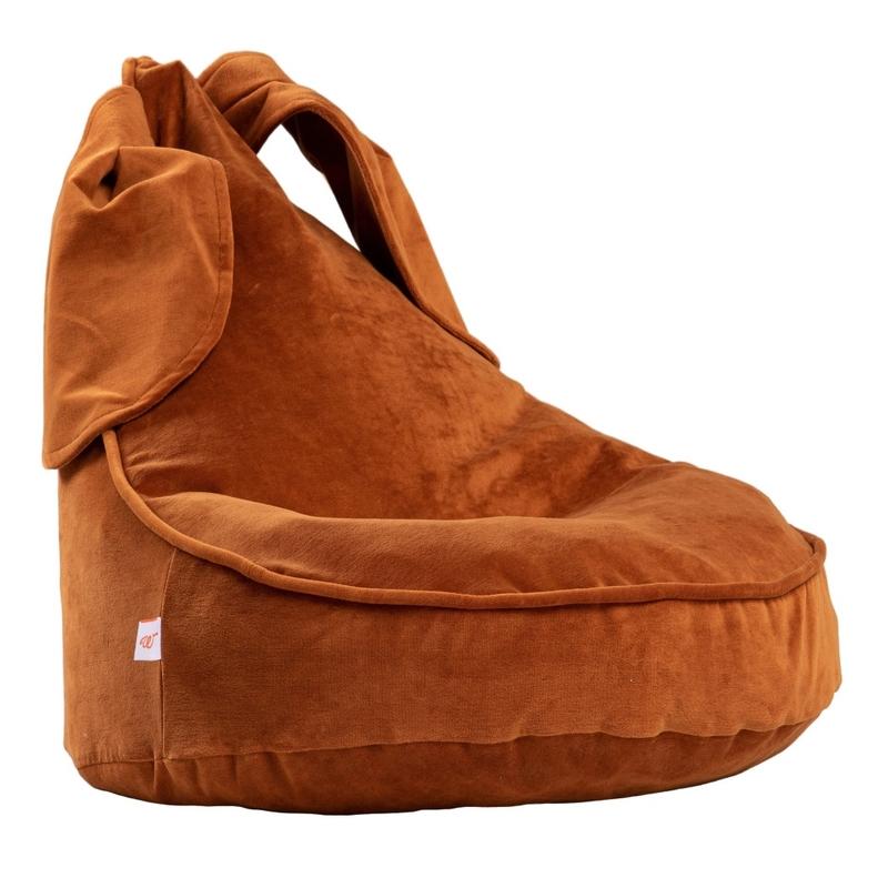 Sitzsack 'Hase' aus Samt rost ca. 75cm