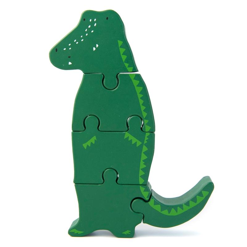 Holzpuzzle 'Krokodil' grün ab 1 Jahr