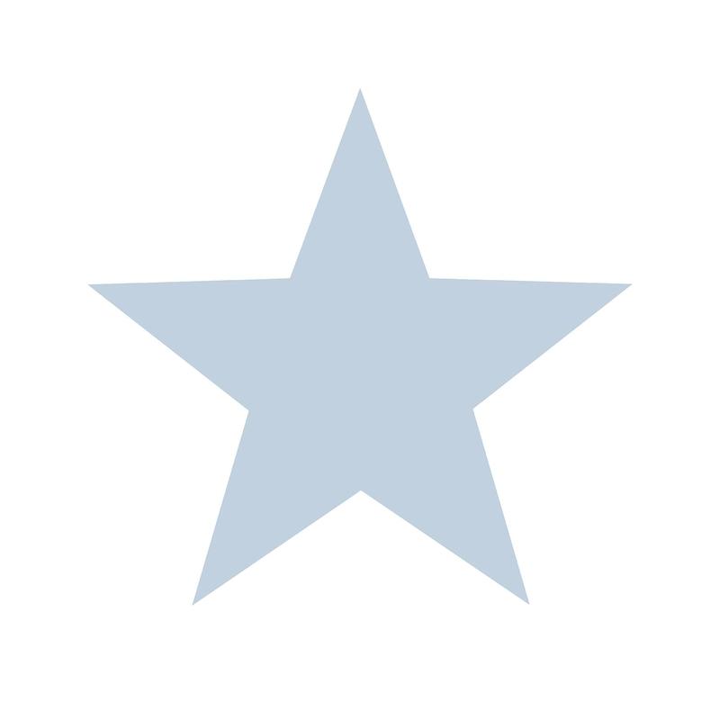 Vliestapete 'Maxi Sterne' weiß/hellblau
