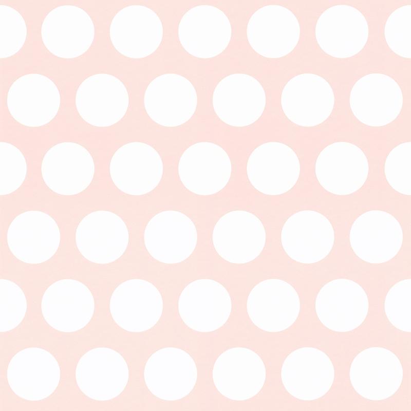 Vliestapete 'XL Punkte' rosa/weiß