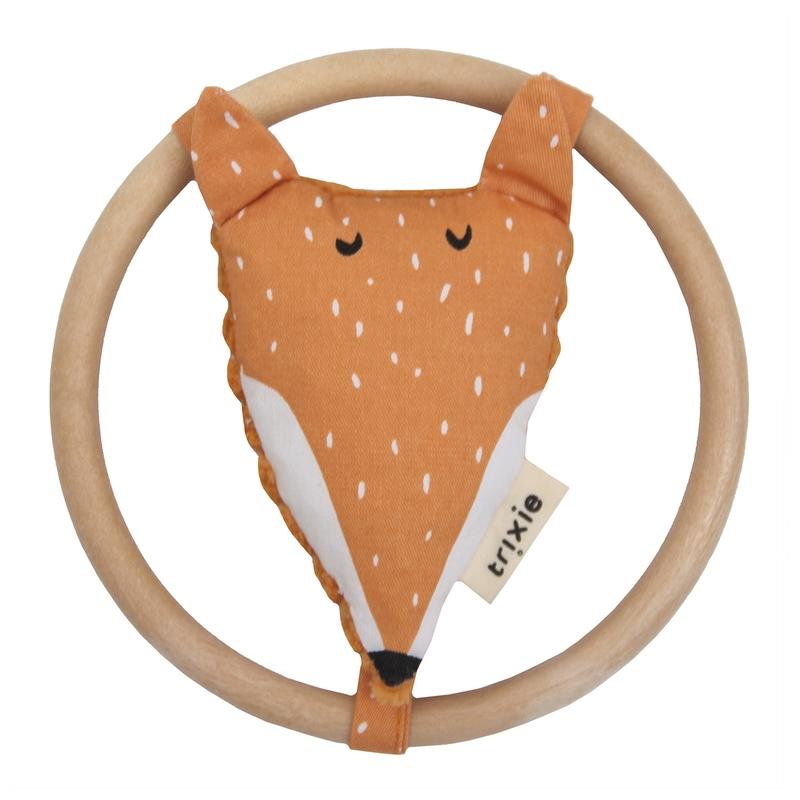 Knister-Greifling 'Fuchs' Holz/Stoff orange
