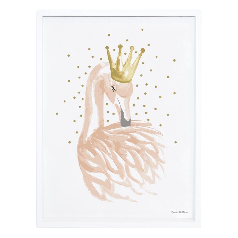Bild 'Flamingo' gold/puderrosa 30x40cm
