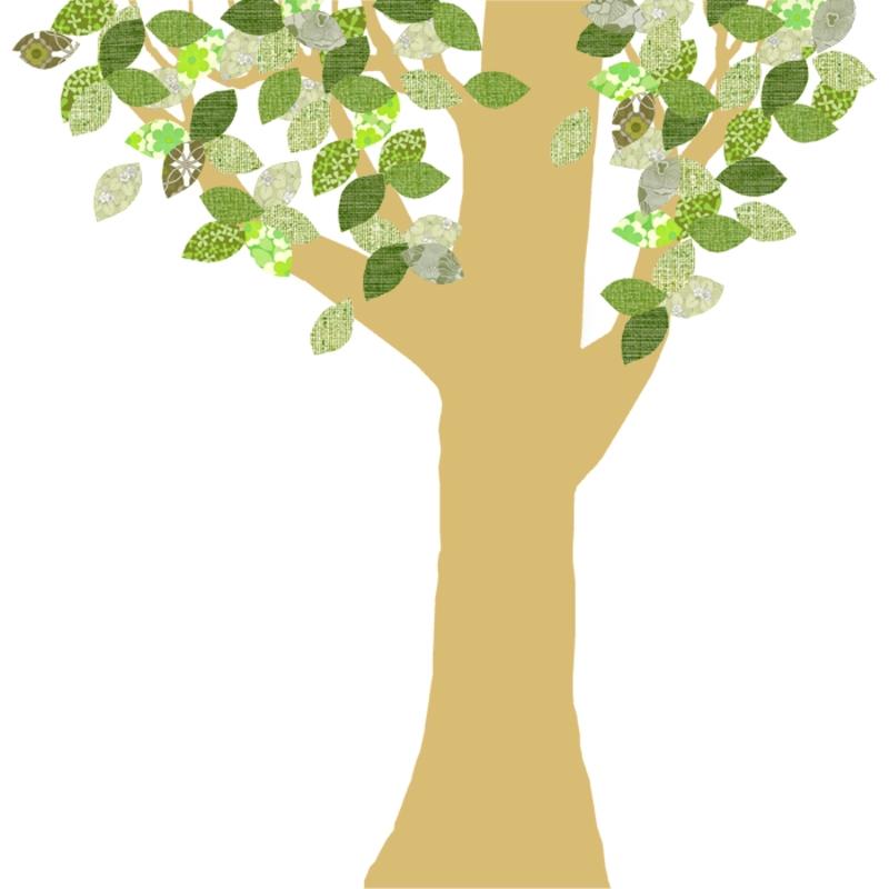 Tapetenbaum groß gold/grün