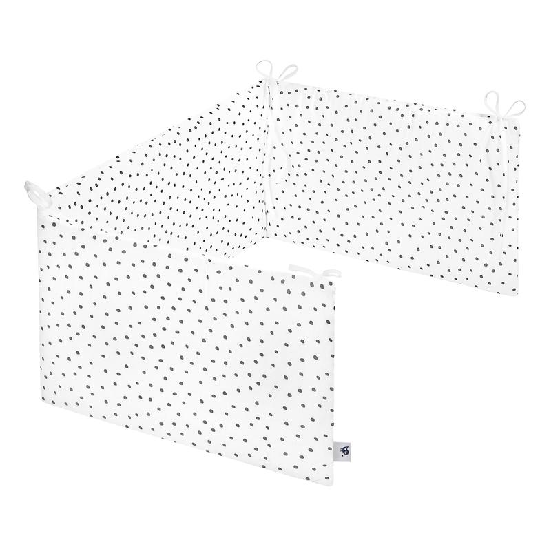 Nestchen 'Punkte' Jersey weiß/grau 180cm