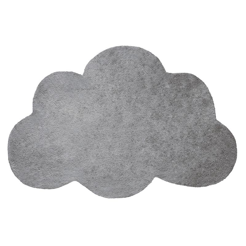 Kinderteppich 'Wolke' dunkelgrau ca. 64x100cm