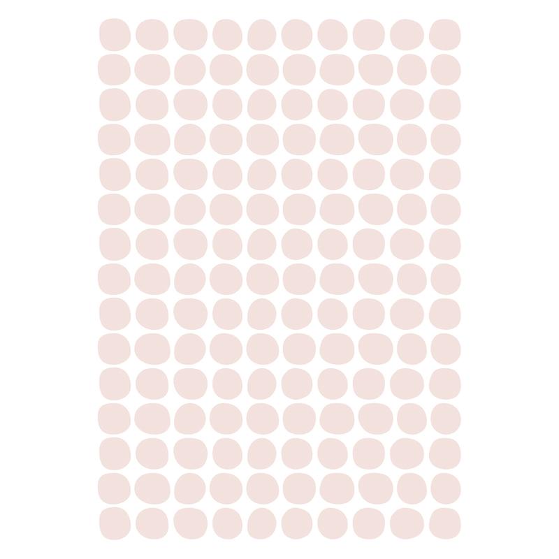 Wandsticker 'Basic Punkte' rosa 150-tlg.