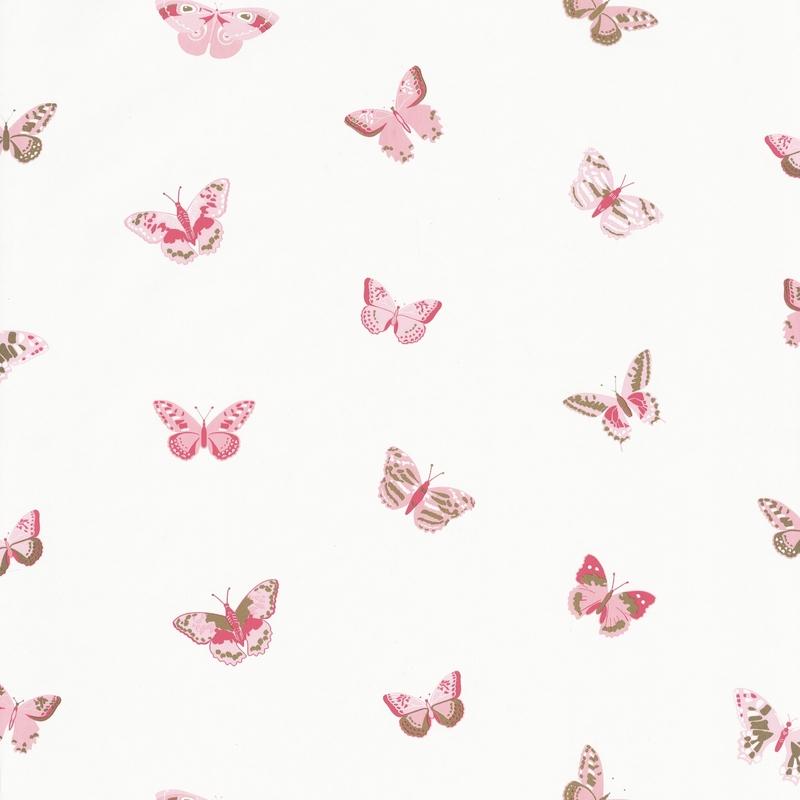 Tapete Schmetterlinge rosa/gold 'Girl Power'