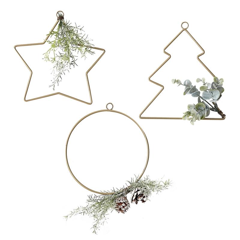 Wanddeko 'Stern, Kreis & Baum' 3er Set