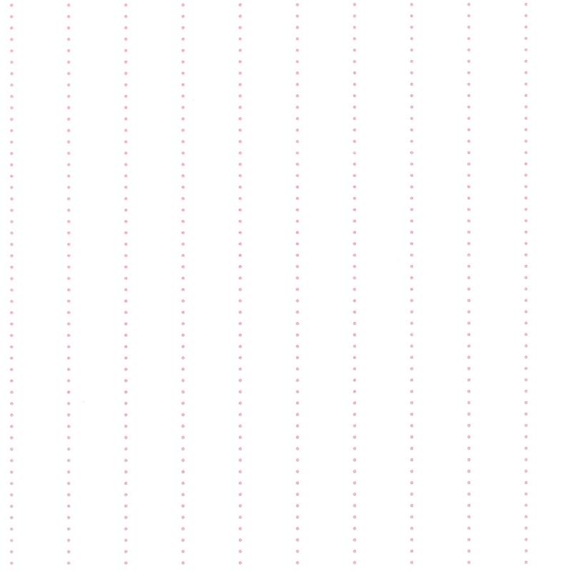 Streifentapete 'My Little World' Punkte weiß/rosa