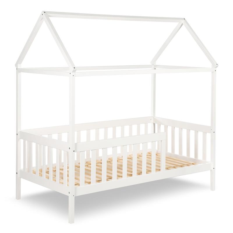 Hausbett für Kinder weiß 80x160cm