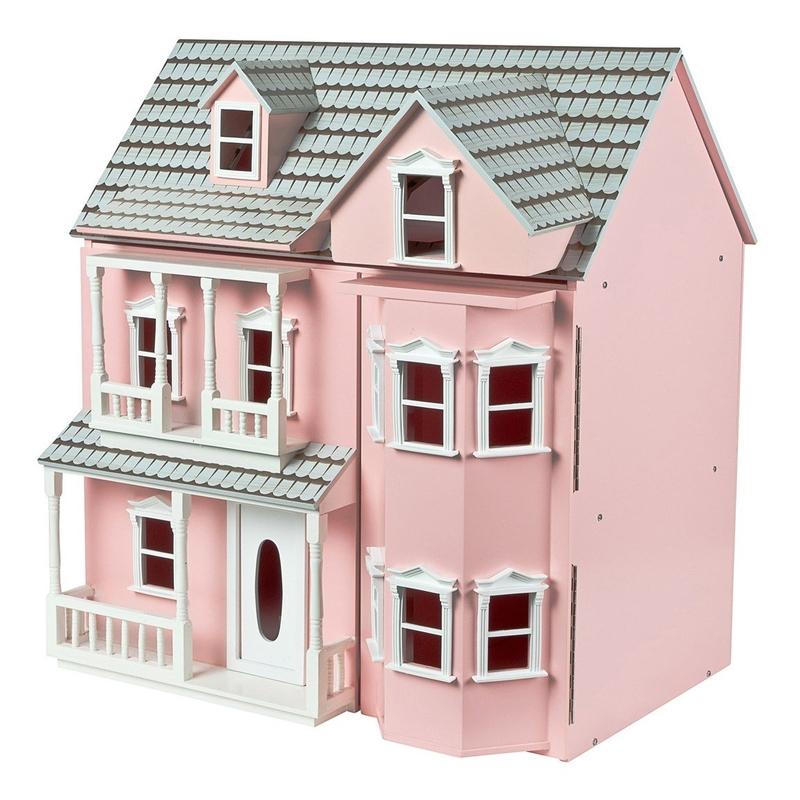 Puppenhaus aus Holz rosa 70cm ab 3 Jahren