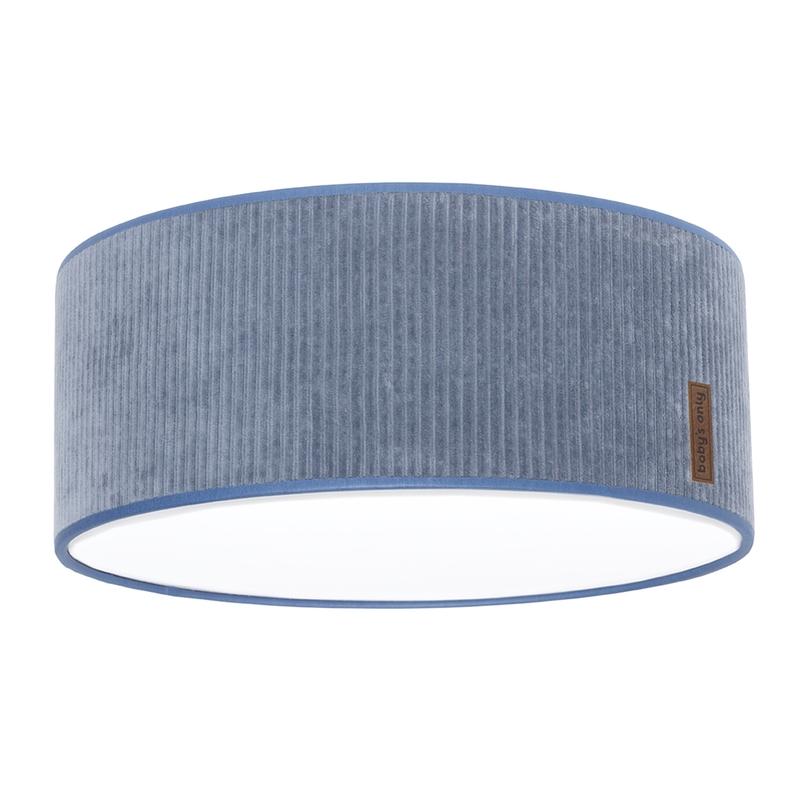 Deckenlampe 'Sense' Samt blau 35cm