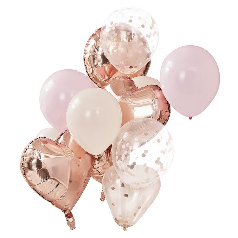 Luftballons 'Mix it Up' roségold/rosa 12er Set