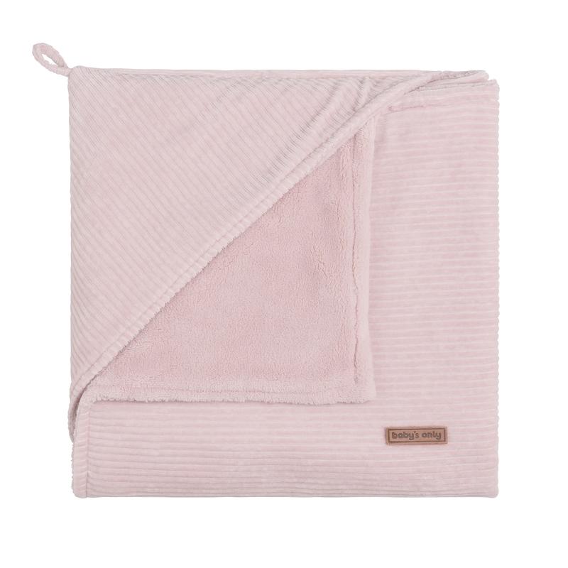 Kapuzendecke 'Sense' Samt rosa 75x75cm