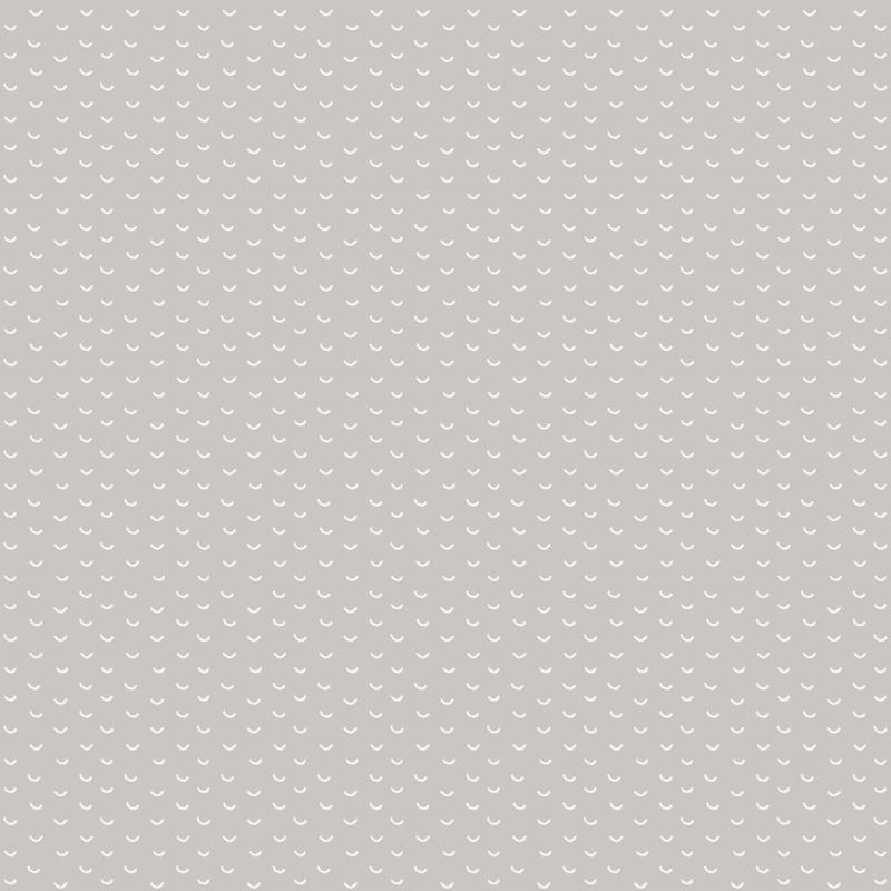 Tapete 'Kleinmuster' hellgrau/weiß