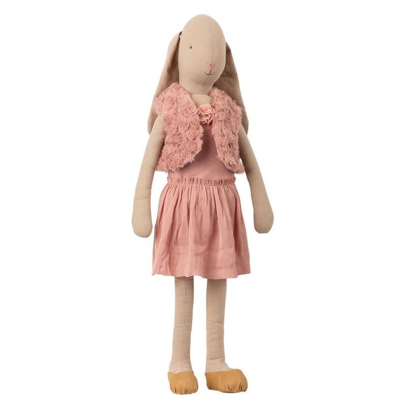 XL Ballerina Hase altrosa 66cm (Mega)