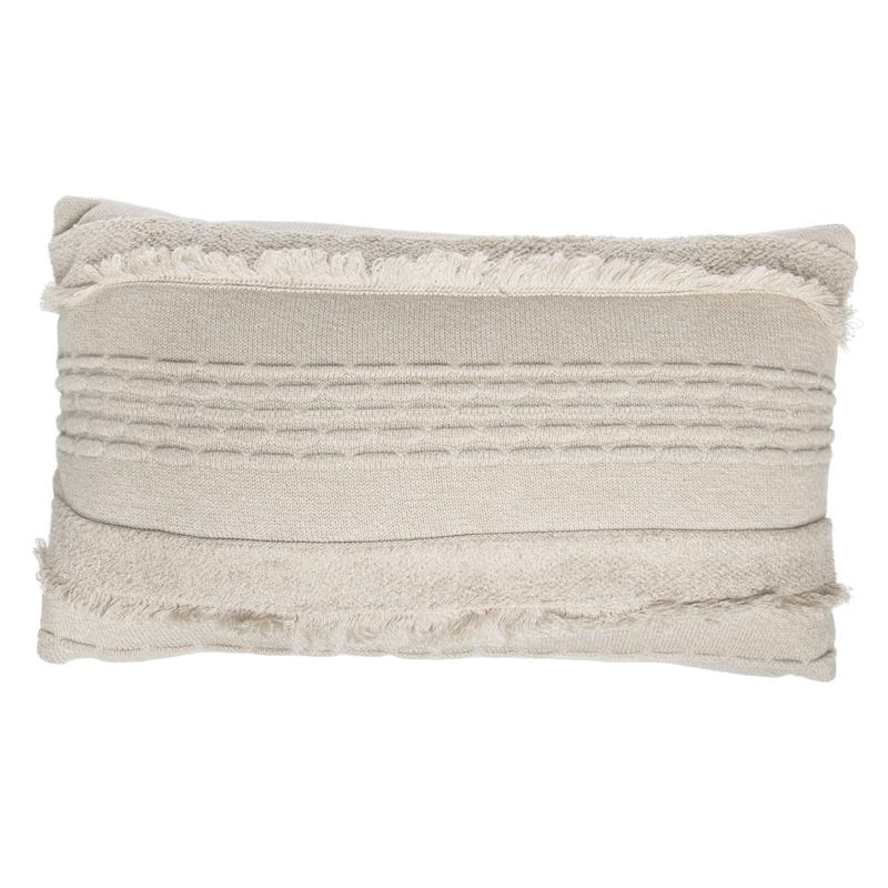 Kissen aus Baumwollstrick 'Air' natur 50x30cm