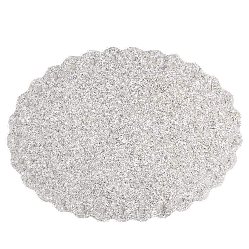 Teppich 'Picone' oval creme 130x180cm waschbar