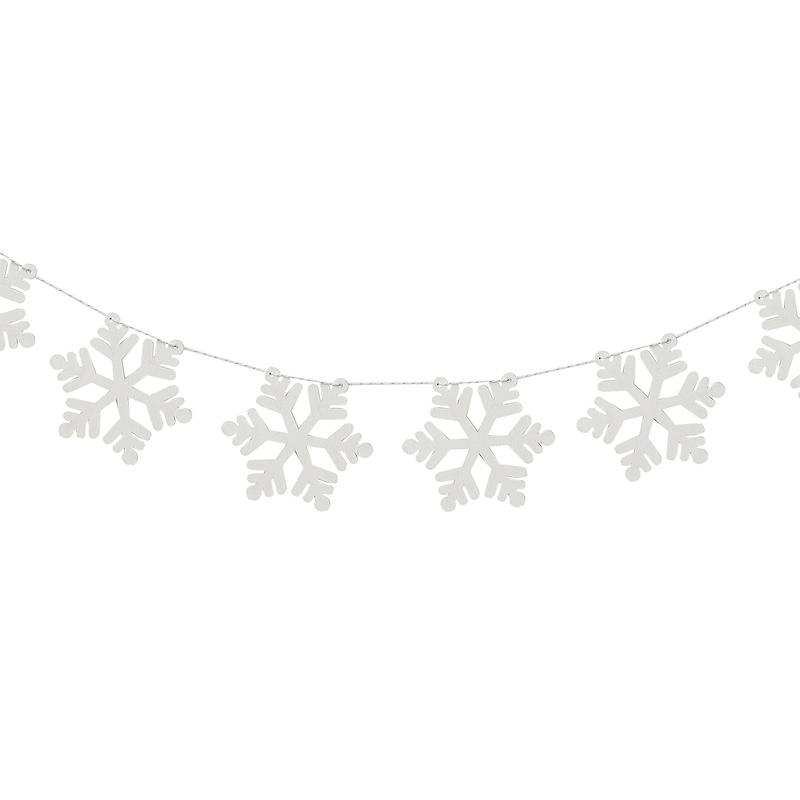 Wintergirlande 'Schneeflocken' weiß 200cm