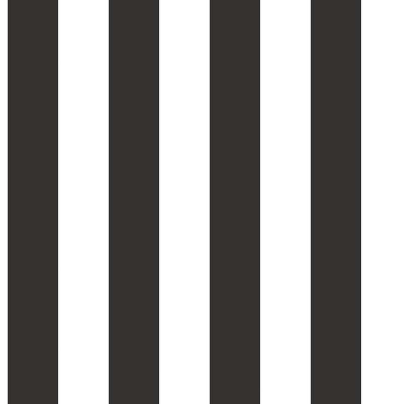 Vliestapete 'Maxi Streifen' schwarz/weiß