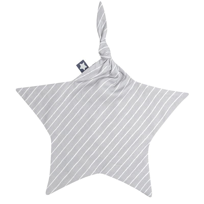Schnuffeltuch 'Streifen' Jersey grau