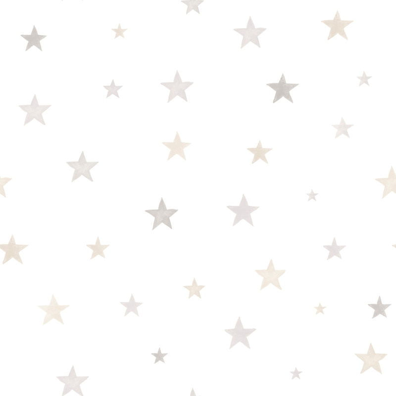 Vliestapete 'Sternen' grau/beige